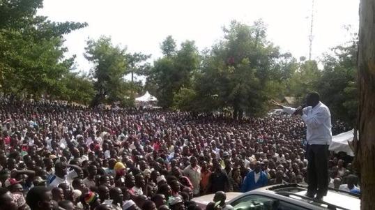 Dr. Kizza Besigye Jinja Iganga-Jinja Rallies 21.07.2015