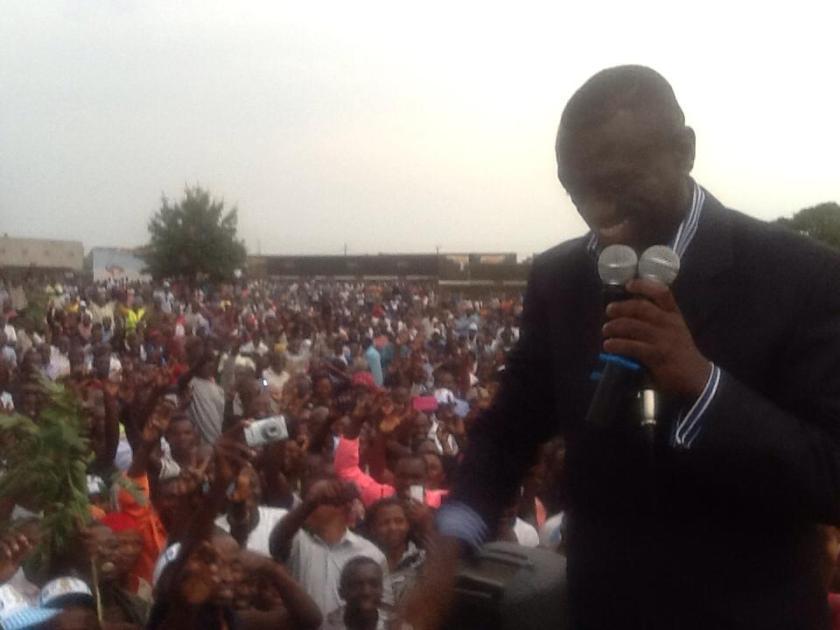 Dr. Kizza Besigye in Kasese