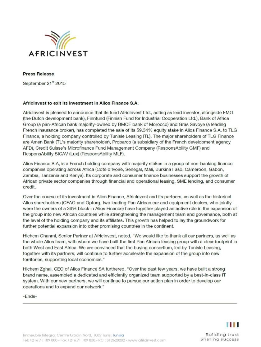 Africenvest 210915
