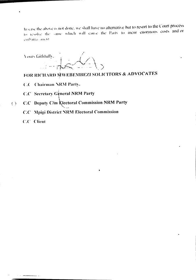 Amelia Kyambadde - Academic Paper letter P2