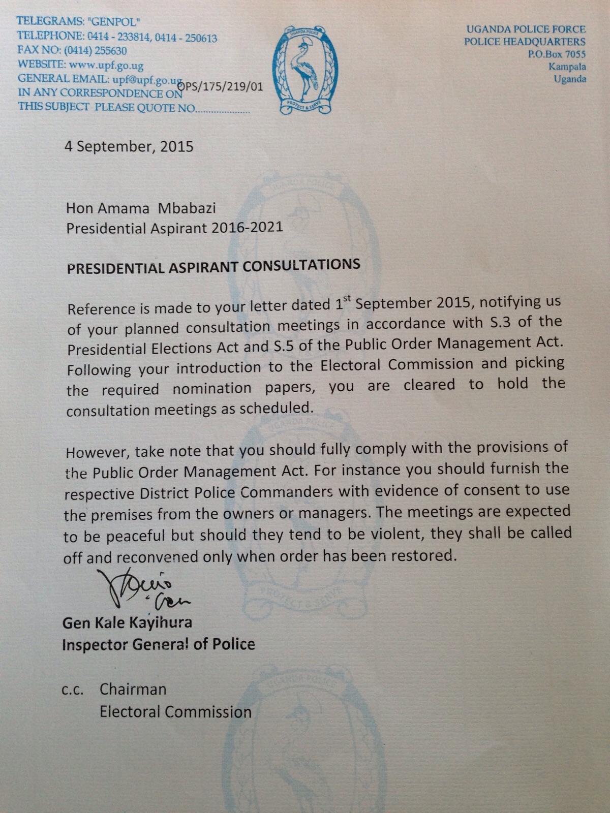 Presidential Election 2016 Uganda Minbane Page 9