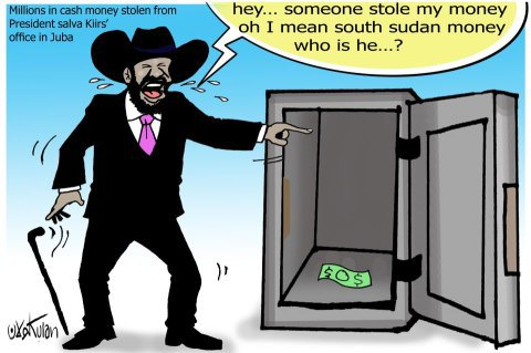 Salva Kiir Cartoon
