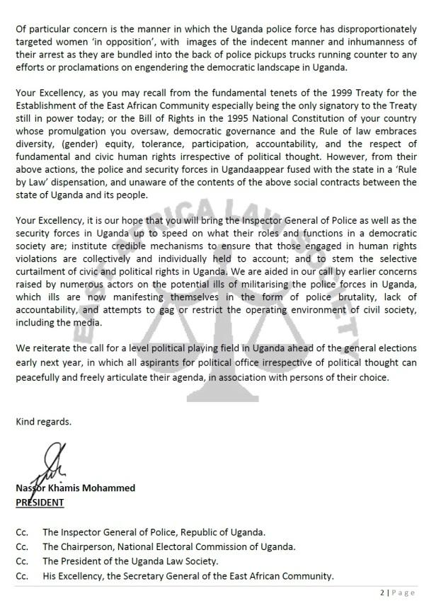 EALS Museveni Letter P2