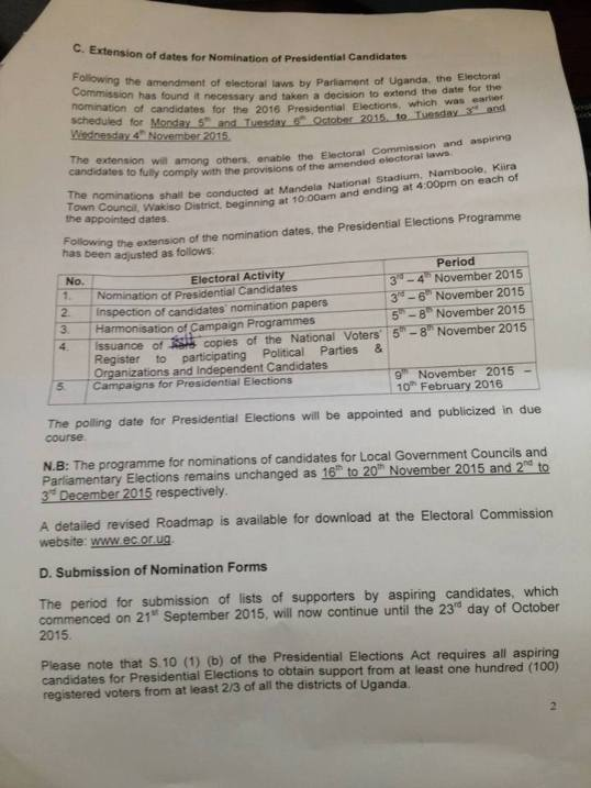 Extention of Nomination P2