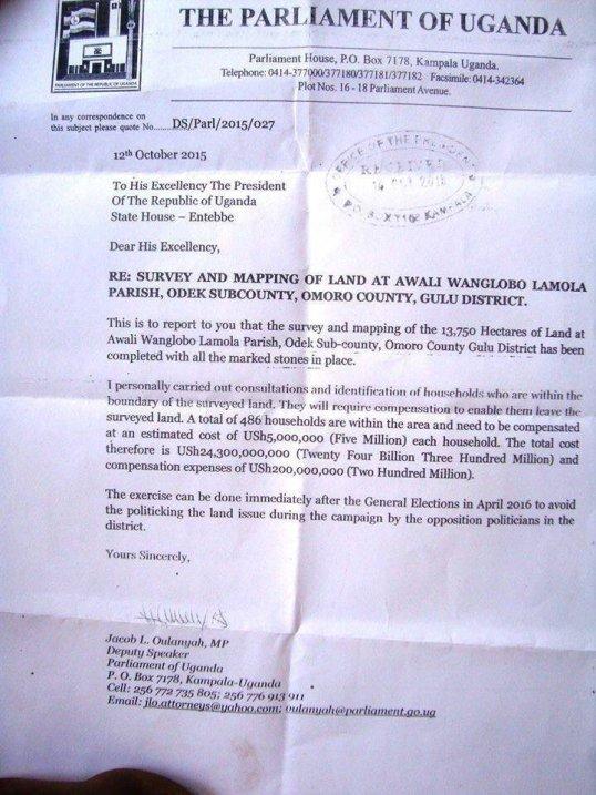 Omoro County Suvey of Land