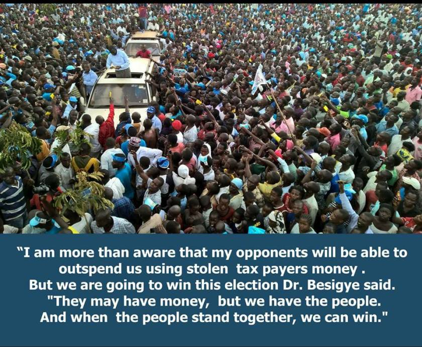 Dr. Kizza Besigye Quote Outspend