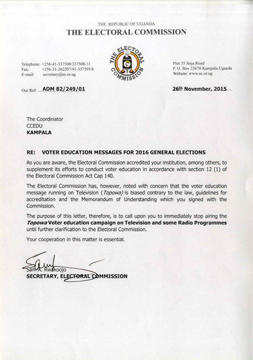 EC Uganda 26.11.2015