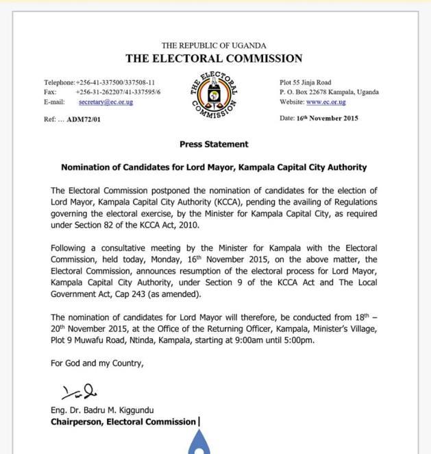 Electoral Commisson 16.11.15