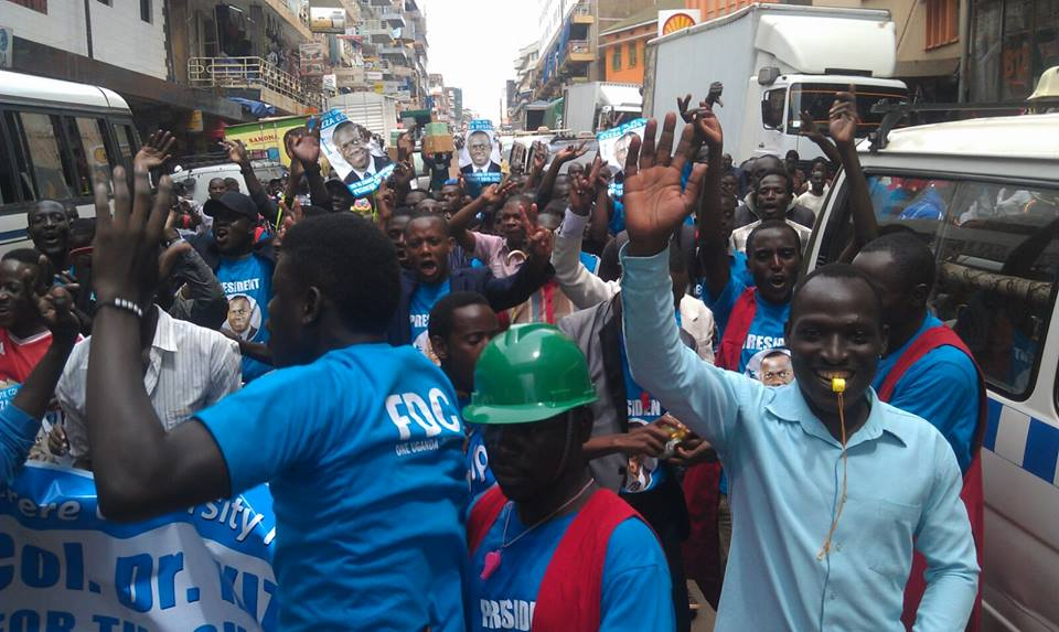 March from Makerere to Nakivubo Stadium 041115 P2