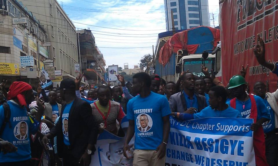 March from Makerere to Nakivubo Stadium 041115