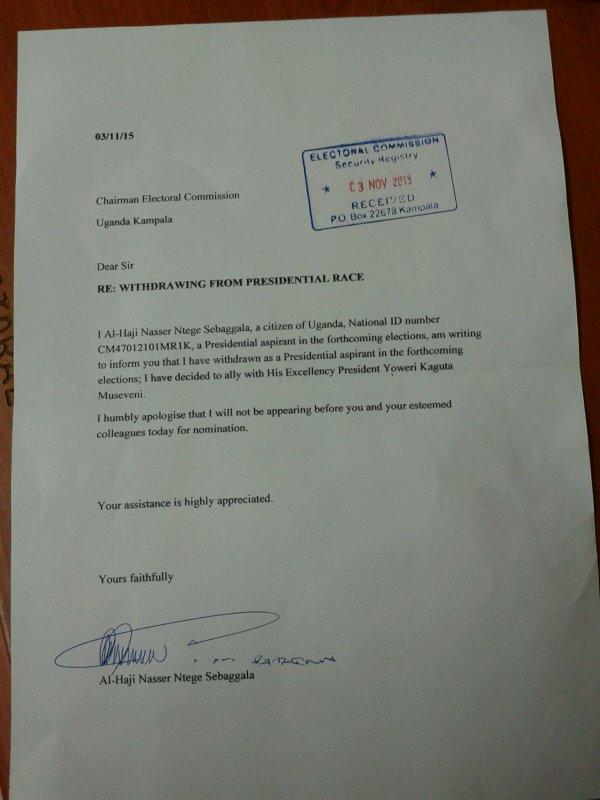 Nasser Ntege Ssebaggala 031115