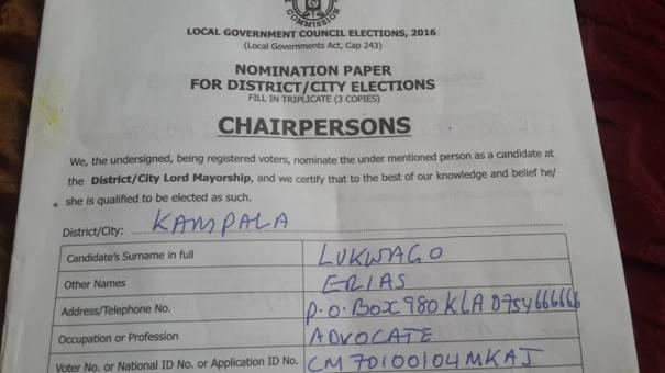 Nomination Paper 15.11.15 Kampala Lukwago