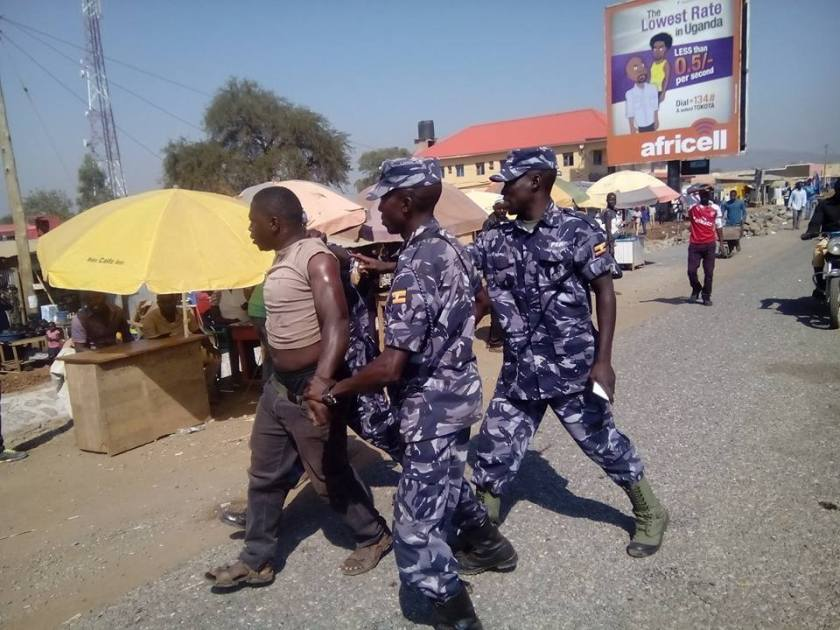 Elegu Border Post Arrests FDC Supporter 24.12.15 P2