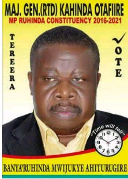 Kahinda Otafiire 2016-2021 Election Poster