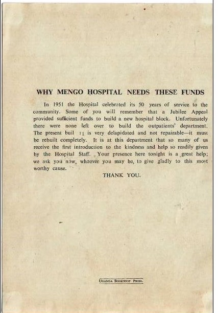 Mengo Hospital needs funds