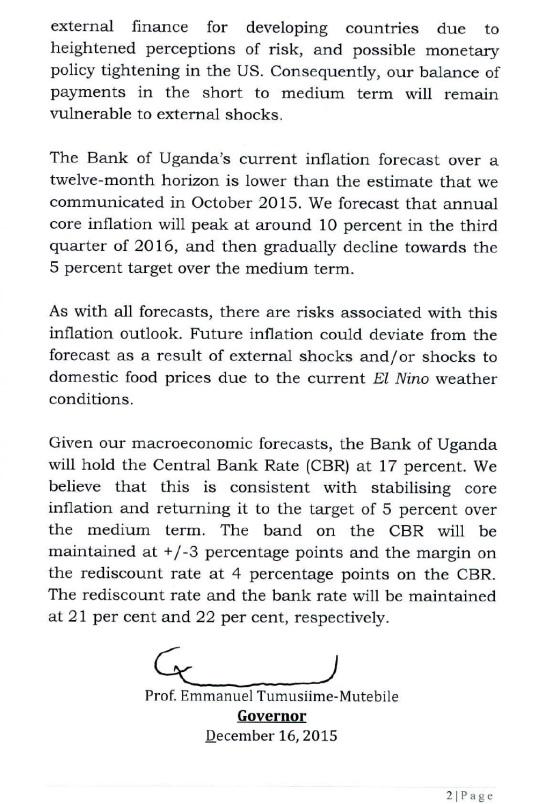 Monetary Policy Statement December 2015 P2