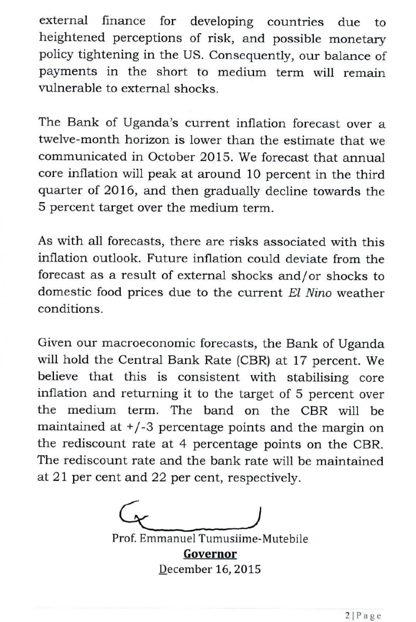 Monetary Policy Statement December 2015 P2