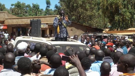 Bukowo Town Besigye 06.01.2016 Campaign