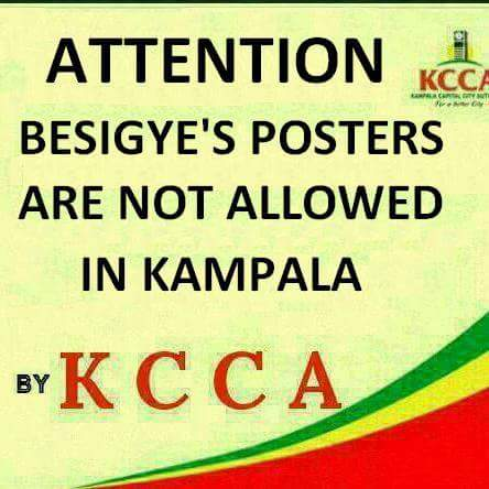 KCCA Poster Ban 23.01.2016