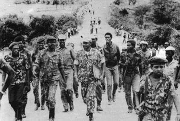 NRA marching to Kampala 1986