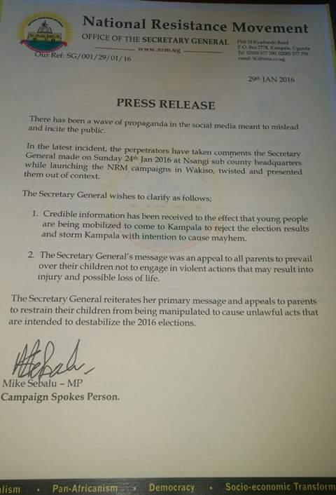 NRM Press Release 29.01.2016
