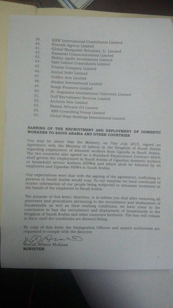 Uganda - Recruitment Saudi Arabia 22.01.2016 P3