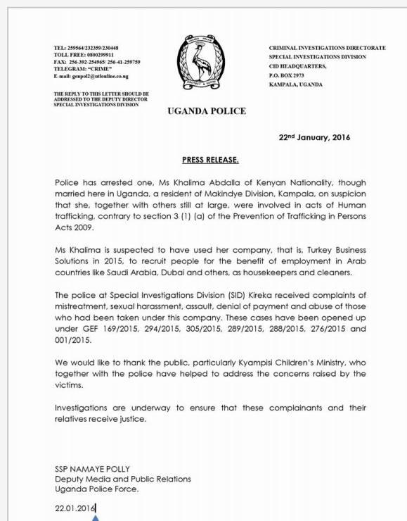 UPF 22.01.2016 Press Release