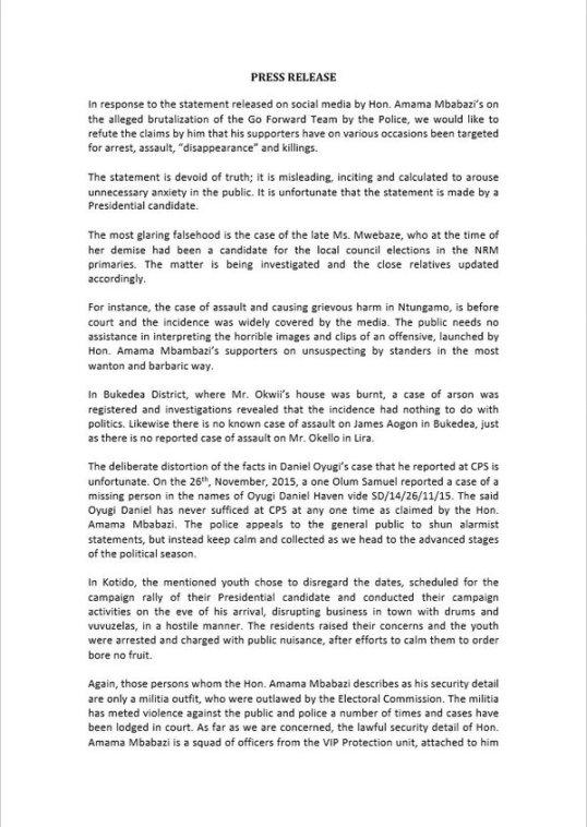 UPF Press Release Go-F P1 070116