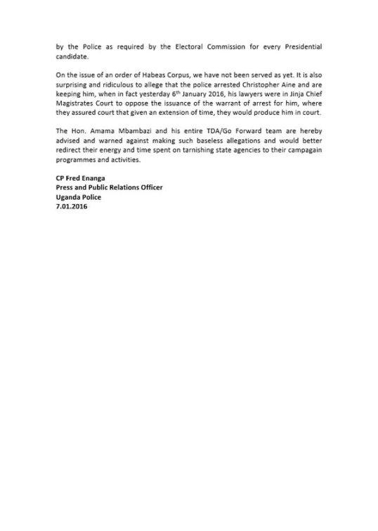 UPF Press Release Go-F P2 070116