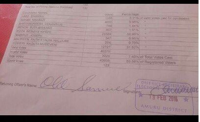 Amuru Election Statment Paper
