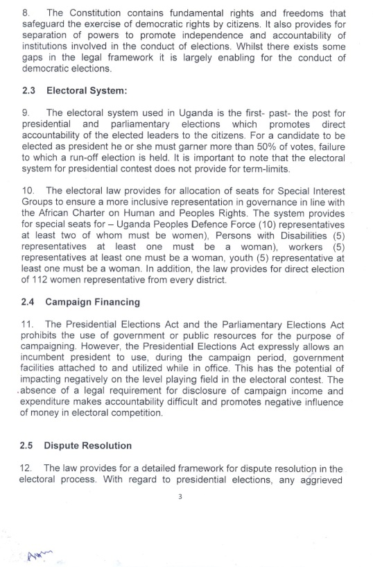 EAC PS Uganda Election 2016  P3