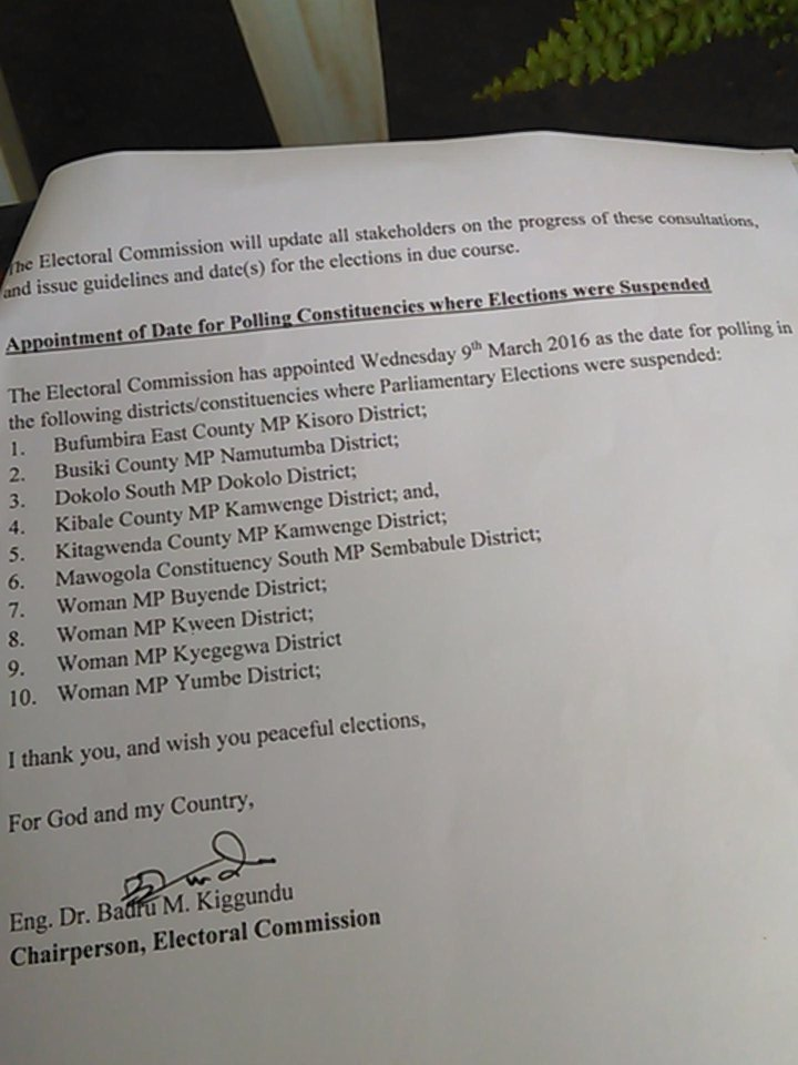EC Postponed Elections