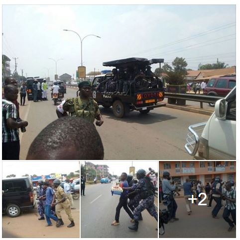 Entebbe Road Kampala 19.02.2016. Demonstrations