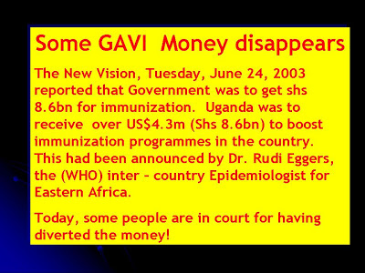 GAVI money disappears