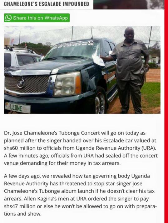 J.Chameleone Tax issues 05.02.2016