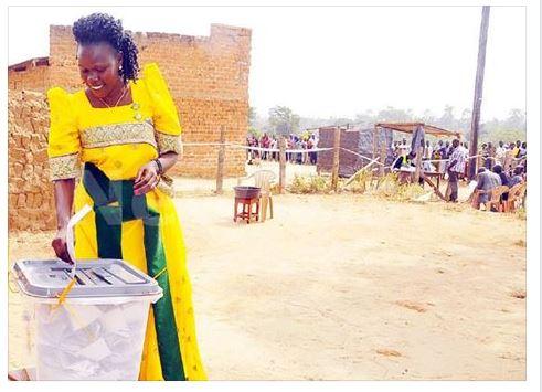 Koboko 18.02.2016 Evelyn Anite Voting