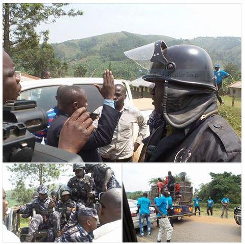Mbarara Police 02.02.2016 FDC Campaign Convoy