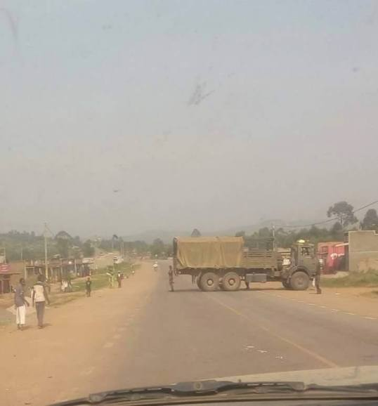 Road Block From UDPF 02.02.2016 Close to Mbarara