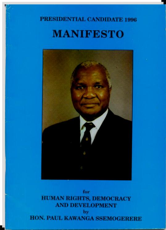Ssemogerere Manifesto