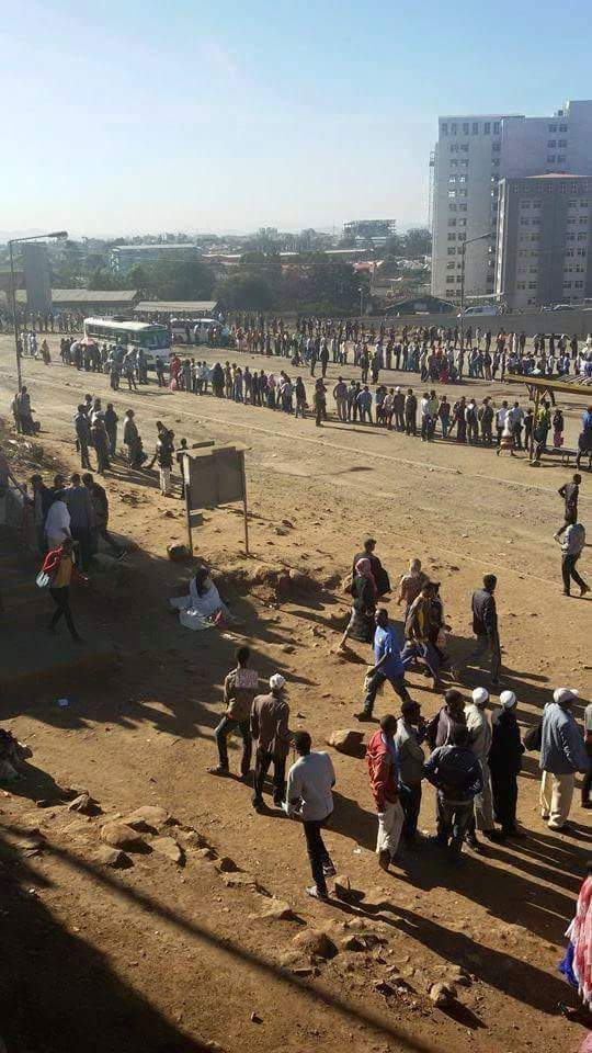 Addis Taxi Strike 2016
