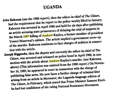 Arrests after Article 1988 Uganda