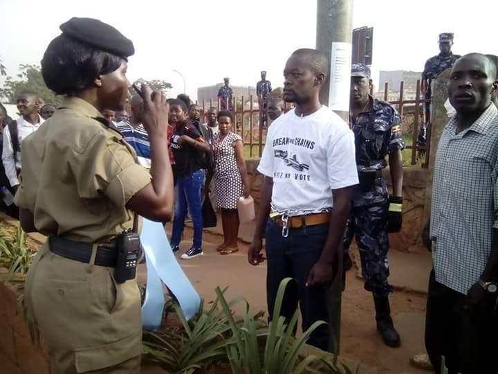 Demonstrator Kampala 31.03.2016