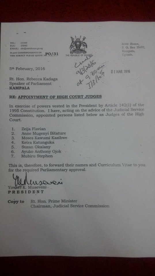 High Court Appointments 01.03.2016