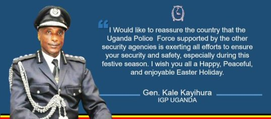 Kale Kayihura Happy Easter 2016
