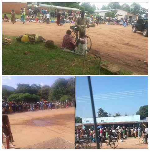 Malawi Maze shortage ques at Storage depot