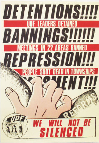 UDF Historical Poster