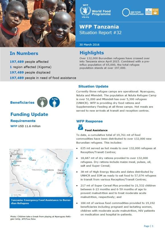 WFP Tanzania Burundi Ref. March 30. P1