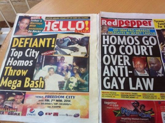 Anti Gay Front Page Uganda