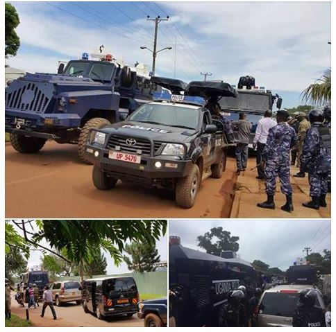 Besigye Car Towed Yusuf Lule Road 05.04.2016