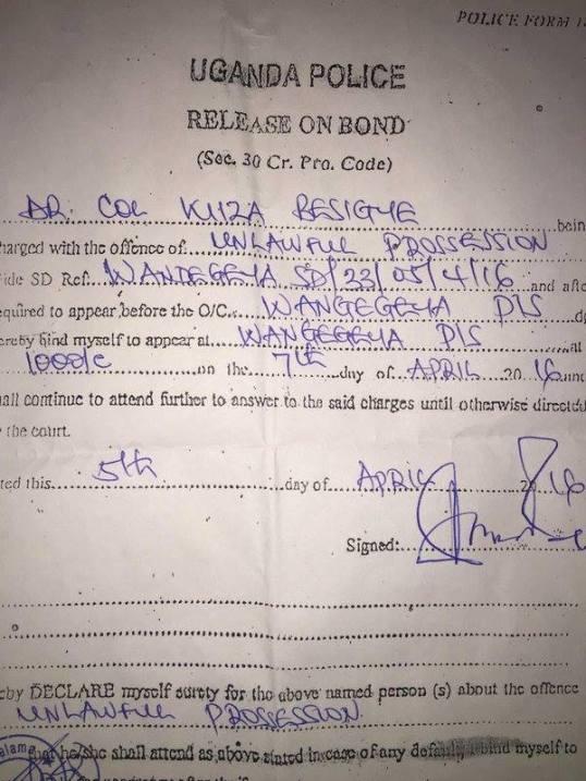 Besigye Release on Bond 05.04.2016 P2